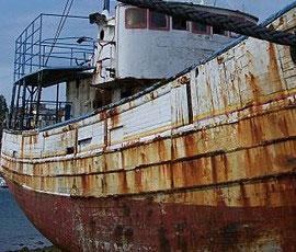 Désoxydant de pièces aciers sur bateau / Dérouillant de pièces de navire